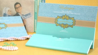 Wedding Card Mewah Dengan Amplop