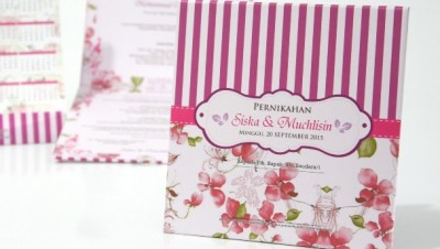Kartu Undangan Nikah Plus Kalender
