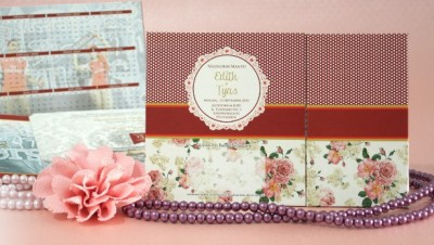 Wedding Card Shabby Polkadot