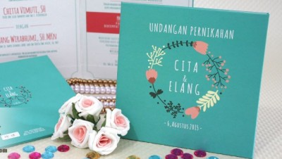 Undangan Pernikahan Hardcover Tosca