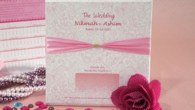 Undangan Nikah Pink Cantik Multifungsi