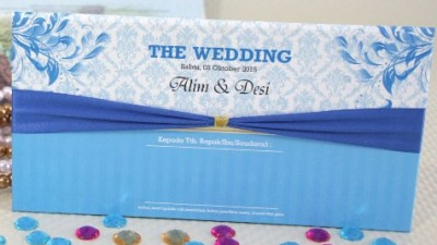 Wedding Card Elegan Biru