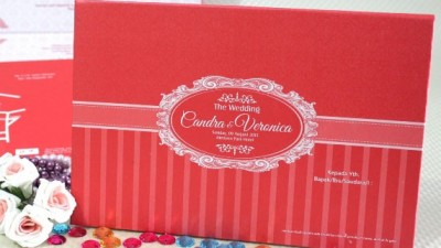 Wedding Invitation Sederhana Warna Merah