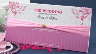 Wedding Card Elegan Cantik Dengan Pita